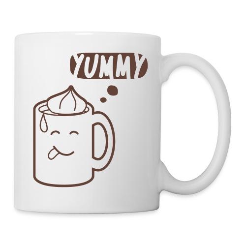 »Like a Hug« Tasse – Braun auf Weiß - Tasse
