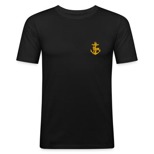 Märke vänster bröst m. text på ryggen - Slim Fit T-shirt herr