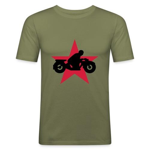 Motorrad Stern Schweiz - Männer Slim Fit T-Shirt