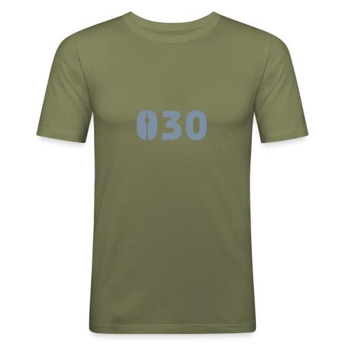 030 SHIRT SILBER-MATT - Männer Slim Fit T-Shirt