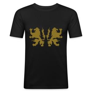 Double Lions - Gold print - Men's Slim Fit T-Shirt