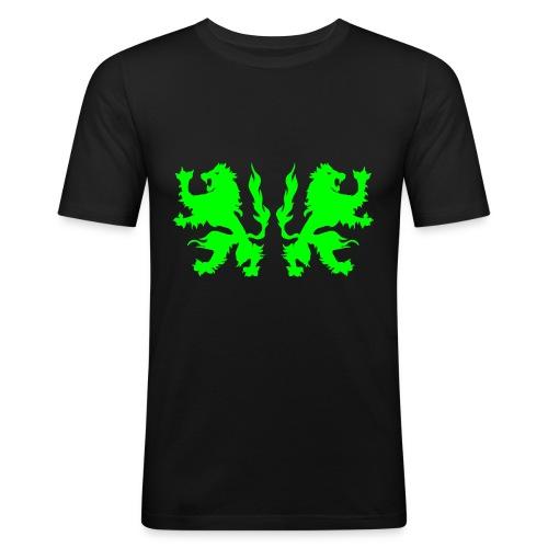 Double Lions - Neongreen - Men's Slim Fit T-Shirt