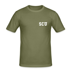 US Police Style SCU T-Shirt (Slim Fit) - Men's Slim Fit T-Shirt