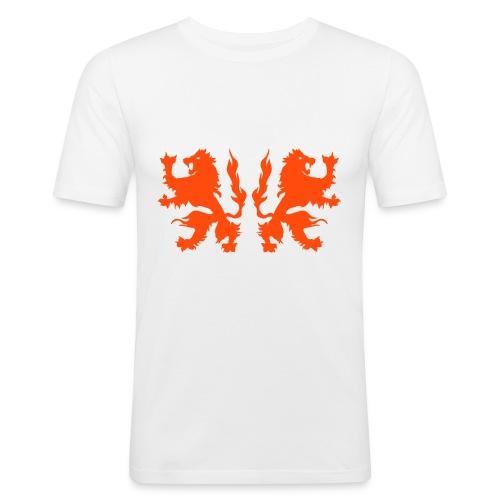 Double Lions - Neonorange - Men's Slim Fit T-Shirt