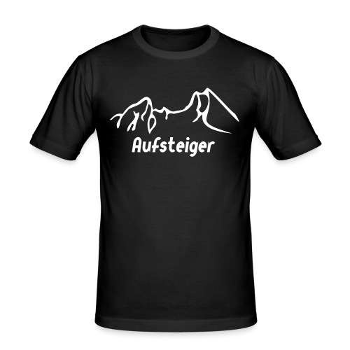 Männer T-Shirt Aufsteiger - Männer Slim Fit T-Shirt