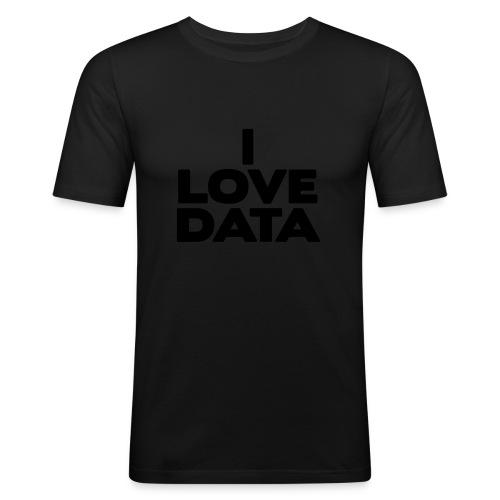 I Love Data - slim fit T-shirt