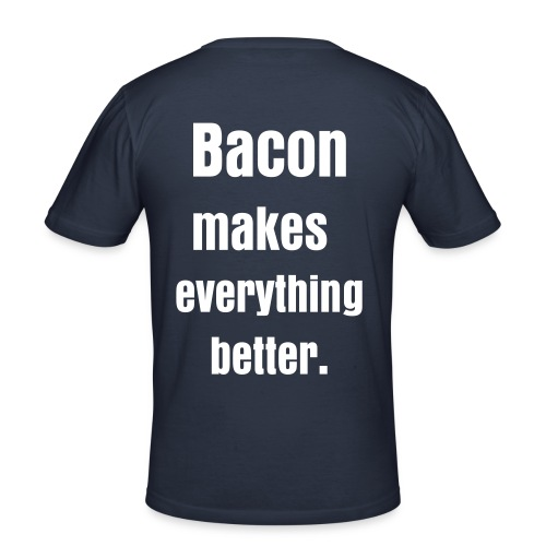 Bacon makes everything T - Men's Slim Fit T-Shirt