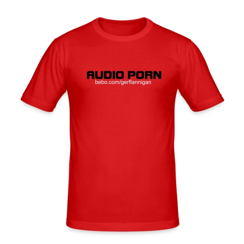 AUDIO PORN - Black (Male) - Men's Slim Fit T-Shirt