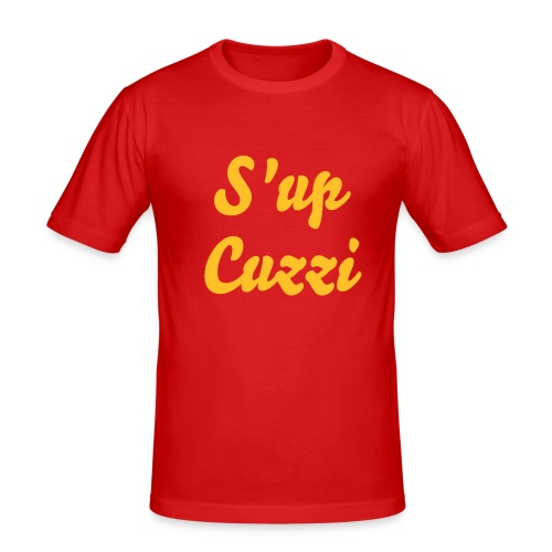 S'up Cuzzi tee - Men's Slim Fit T-Shirt