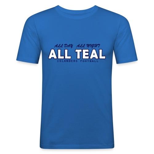 Teal Summer Man - Maglietta aderente da uomo