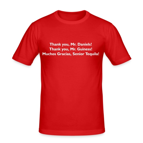 Thank you Mr. Alcohol - PrintShirt.at - Männer Slim Fit T-Shirt