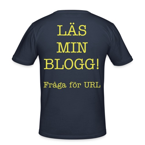Läs min blogg - Slim Fit T-shirt herr