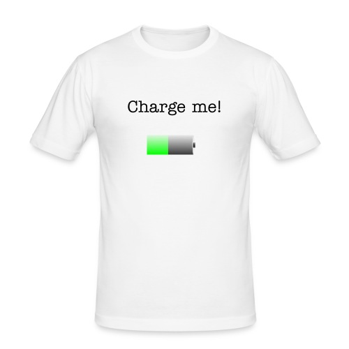 i'm charged, battery - Men's Slim Fit T-Shirt