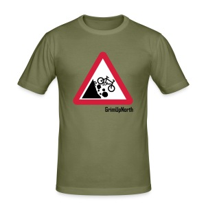 Falling Mountain Bikers - Men's Slim Fit T-Shirt