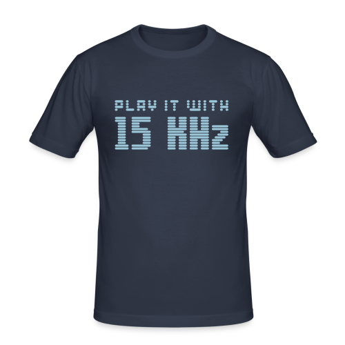 Play it with 15KHz - Men's Slim Fit T-Shirt