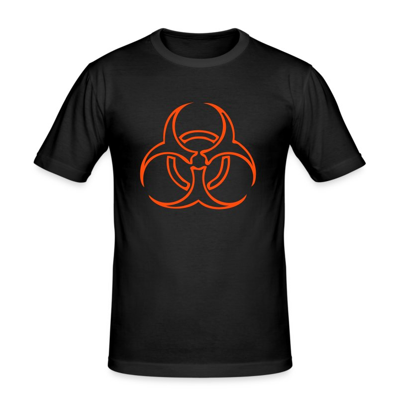 Biohazard Lines - Neonorange - Slim Fit T-shirt herr