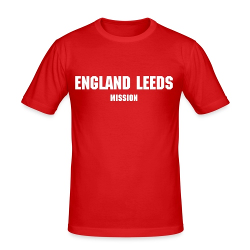 Red England Leeds Mission T-Shirt - Men's Slim Fit T-Shirt