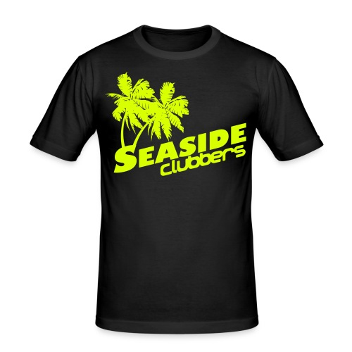 Seaside Logo Neon Man - Männer Slim Fit T-Shirt