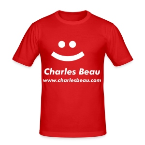 Charles Beau Smiley - Men's Slim Fit T-Shirt