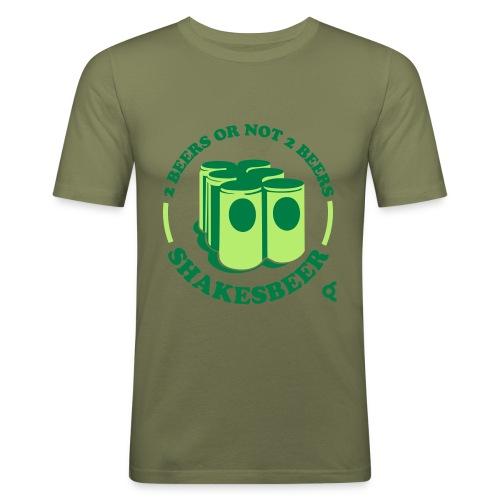 2 beers or not 2 beer - Shakesbeer - T-shirt près du corps Homme