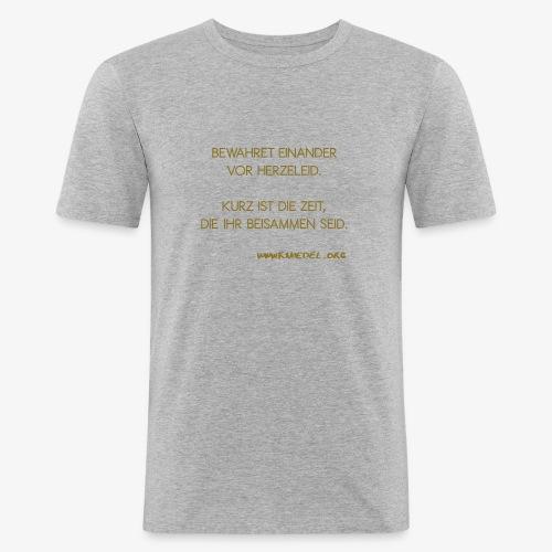 """""""Bewahret"""" Gold Männer - Männer Slim Fit T-Shirt"""