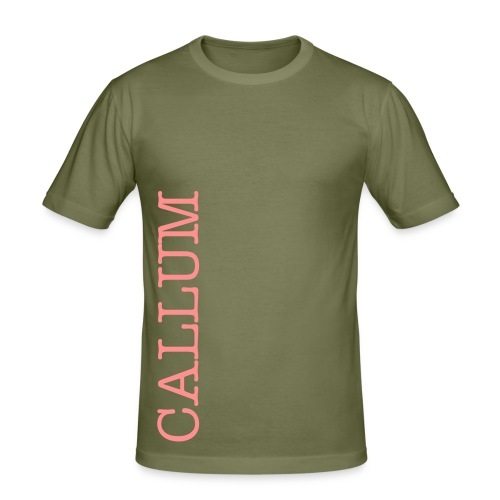 customisable side name slimfit tshirt - Men's Slim Fit T-Shirt