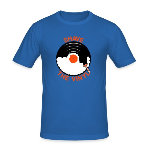Shave the Vinyl Men Royalblau - Männer Slim Fit T-Shirt