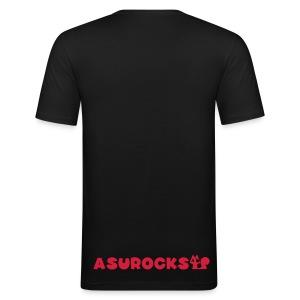 SQUIRRELROCK men's red/black - Männer Slim Fit T-Shirt