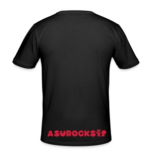 SQUIRRELROCK men's red/black - Männer Slim Fit T-Shirt