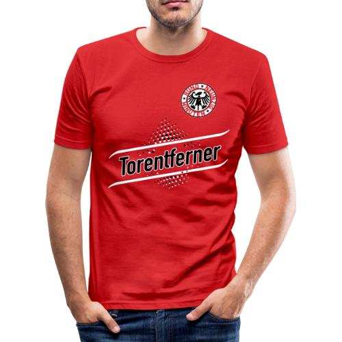TORENTFERNER - Mit Rückennummer 1 - Männer Slim Fit T-Shirt