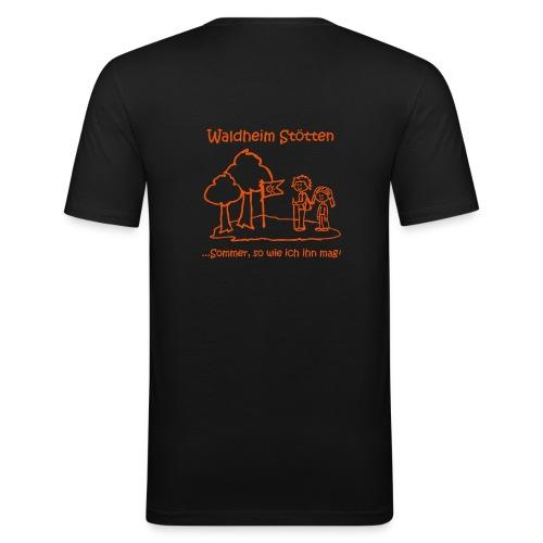 Männer Slim Fit T-Shirt schwarz - Männer Slim Fit T-Shirt