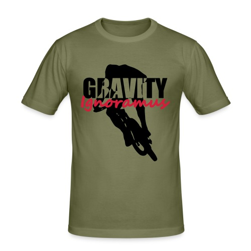 Gravity Ignoramus (Army-Black-Red) - Männer Slim Fit T-Shirt