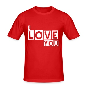 The men I love you t-shirt - Men's Slim Fit T-Shirt