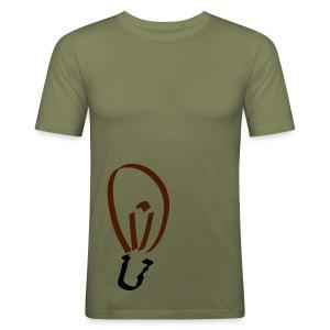 Glühbirne Männer Slim Fit T-Shirt - Männer Slim Fit T-Shirt