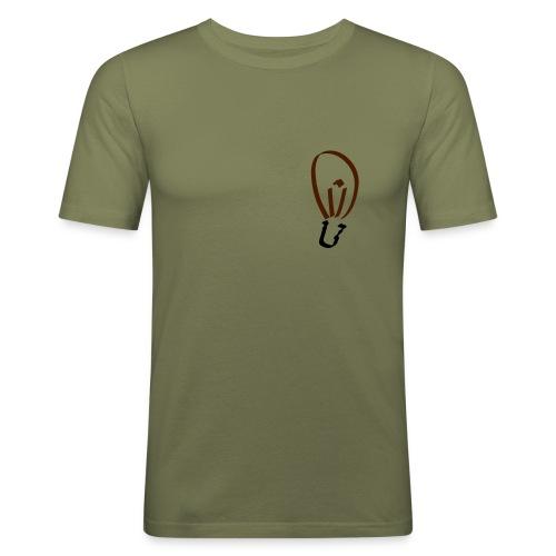 Glühbirne (klein) Männer Slim Fit T-Shirt - Männer Slim Fit T-Shirt