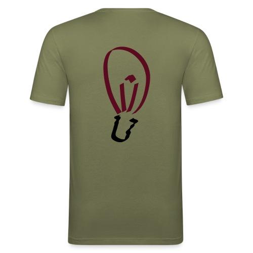 Glühbirne (hinten) Männer Slim Fit T-Shirt - Männer Slim Fit T-Shirt