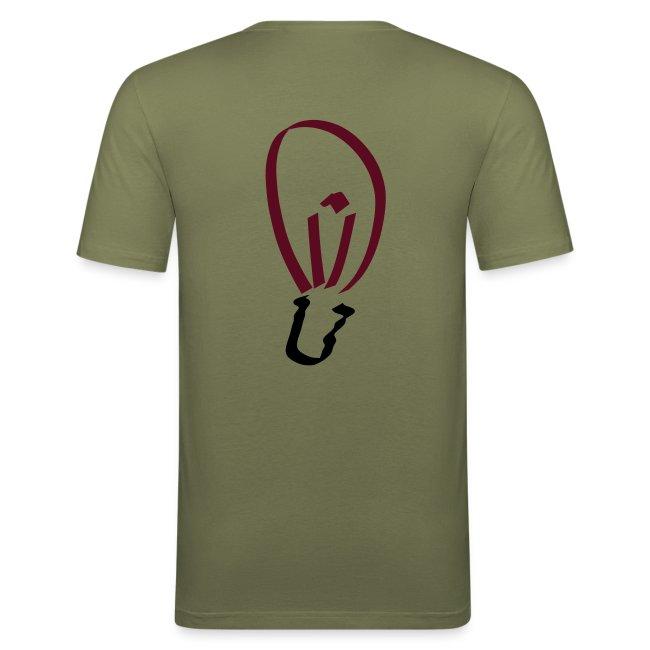 Glühbirne (hinten) Männer Slim Fit T-Shirt