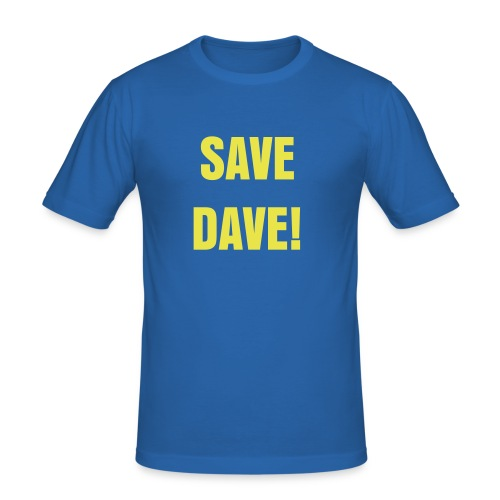 Save Dave Foundation T - Men's Slim Fit T-Shirt