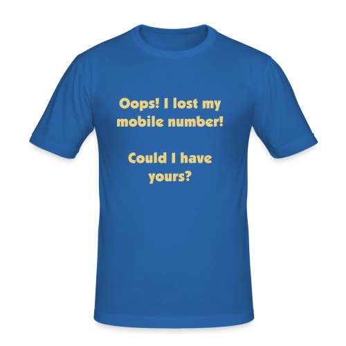 Lost my mobile number - Slim Fit T-skjorte for menn