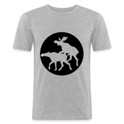 Slim Fit m/logo foran og tekst bak - Slim Fit T-skjorte for menn