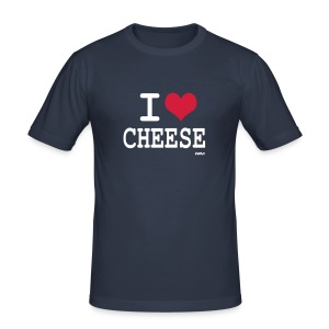 i love cheese - Tee shirt près du corps Homme