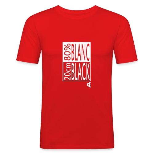 80% blanc 20cm black - T-shirt près du corps Homme