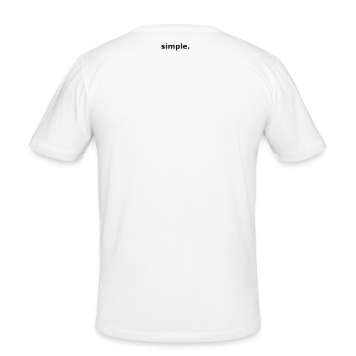 simple. plain white tee. - Men's Slim Fit T-Shirt