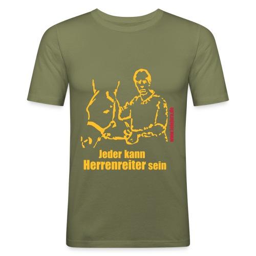 Jeder kann Herrenreiter sein - Braun (m) - Männer Slim Fit T-Shirt