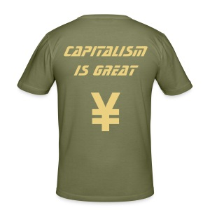 Capitalism Is Great - Men's Camo Edition - Men's Slim Fit T-Shirt