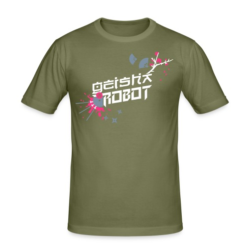 Geisha is Robot - Männer Slim Fit T-Shirt