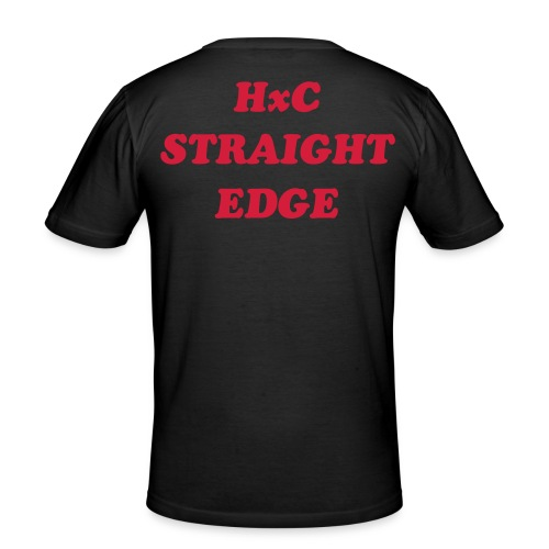 single black SxE front & back - T-shirt près du corps Homme