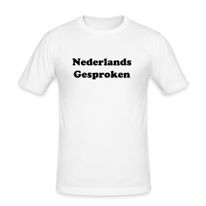 Nederlands Gesproken wit - slim fit T-shirt