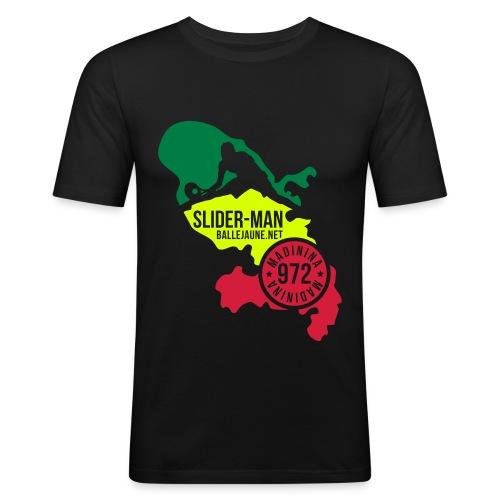 SliderMan Madinina Vert/Jaune/Rouge (flex3c) - T-shirt près du corps Homme