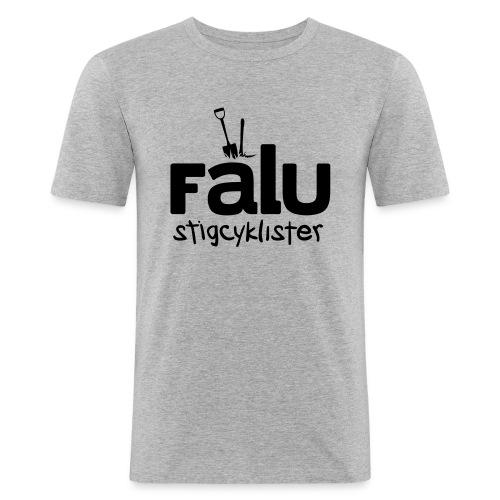 T-Shirt Slim Fit Herr, svart tryck - Slim Fit T-shirt herr